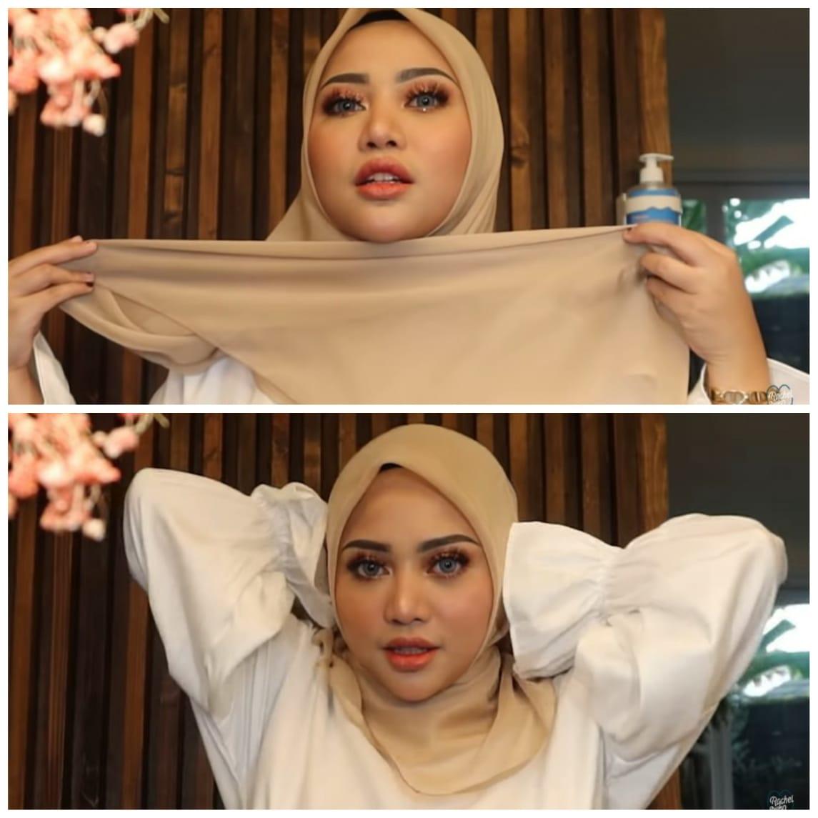 Tutorial Clean Hijab Segi Empat Ala Rachel Vennya Cocok Untuk Wisuda Online Scarf Media